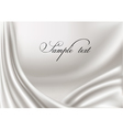 elegant white silk texture vector image vector image