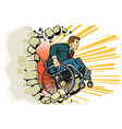 businessman in a wheelchair disabilities and vector image