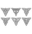 celtic knot set vector image