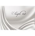 Elegant white silk texture vector image