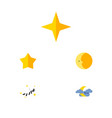 flat icon bedtime set of star starlet lunar and vector image