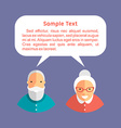 Grandfather and Grandmother with Speech Bubbles vector image