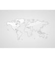 Gray world map vector image