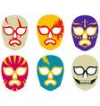 Lucha libre mexican wrestling masks vector image