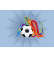 Soccer Ball with Brush Strokes2 vector image