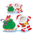 winter christmas new year vector image