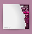 Modern Advertisement Sheet with discount a vector image vector image