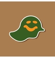 paper sticker on stylish background Halloween vector image