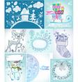 Christmas card big set vector image