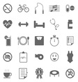 Wellness icons on white background vector image