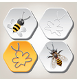 bee on honeycell vector image