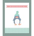 Christmas penguin vector image