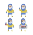 Scientist in Protective Yellow Gear Cartoon Style vector image