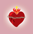 Secret heart christian icon and symbol vector image