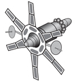Space communications satellite vector image vector image