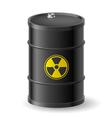 Radioactive barrel vector image vector image