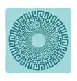 ancient greek round meander key emblem vector image