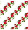 beautiful rose flower seamless pattern background vector image
