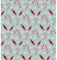 Christmas candies seamless pattern vector image