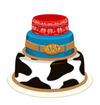 Cowboy party birthday cake vector image