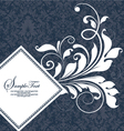damask wedding card vector image