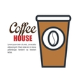 delicious coffee isolated icon design vector image