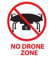 drone flights prohibited in thai area no drone vector image