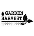 garden harvest symbol vector image