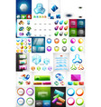 mega collection of glass web banner plates boxes vector image