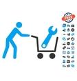 Tools Shopping Icon With Free Bonus vector image