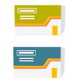 two boxes with tablets cartoon vector image