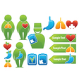 Health organs people medicine Vector Image