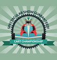 cart championship banner in flat design vector image