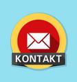 mail contact button non-english text - contact vector image