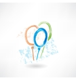 Balloons grunge icon vector image vector image
