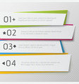 Modern paper numbered banners color Design vector image