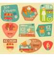 Ice Cream Stickers vector image