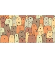 Bears family seamless pattern for your design vector image