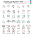 Business motivation ultra modern color vector image