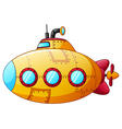 Cartoon yellow submarine vector image