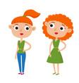 color cute cartoon woman in vector image