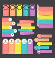 infographic templates collection set for business vector image