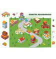 Isometric Neighborhood vector image
