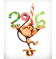 New Year monkey vector image