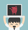 On line store on line shop internet shopping eleme vector image