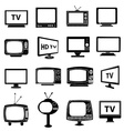 TV monitor icons set vector image