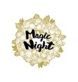 Xmas golden wreath and Magic Night vector image