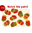 Christmas colorful mittens set in traditional vector image vector image
