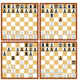 Chess position set vector image