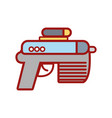 pistol military army to protection in the war vector image